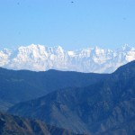 The snow clad Mountains of Mussorie