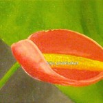 anthurium - 2007 Oil on canvas