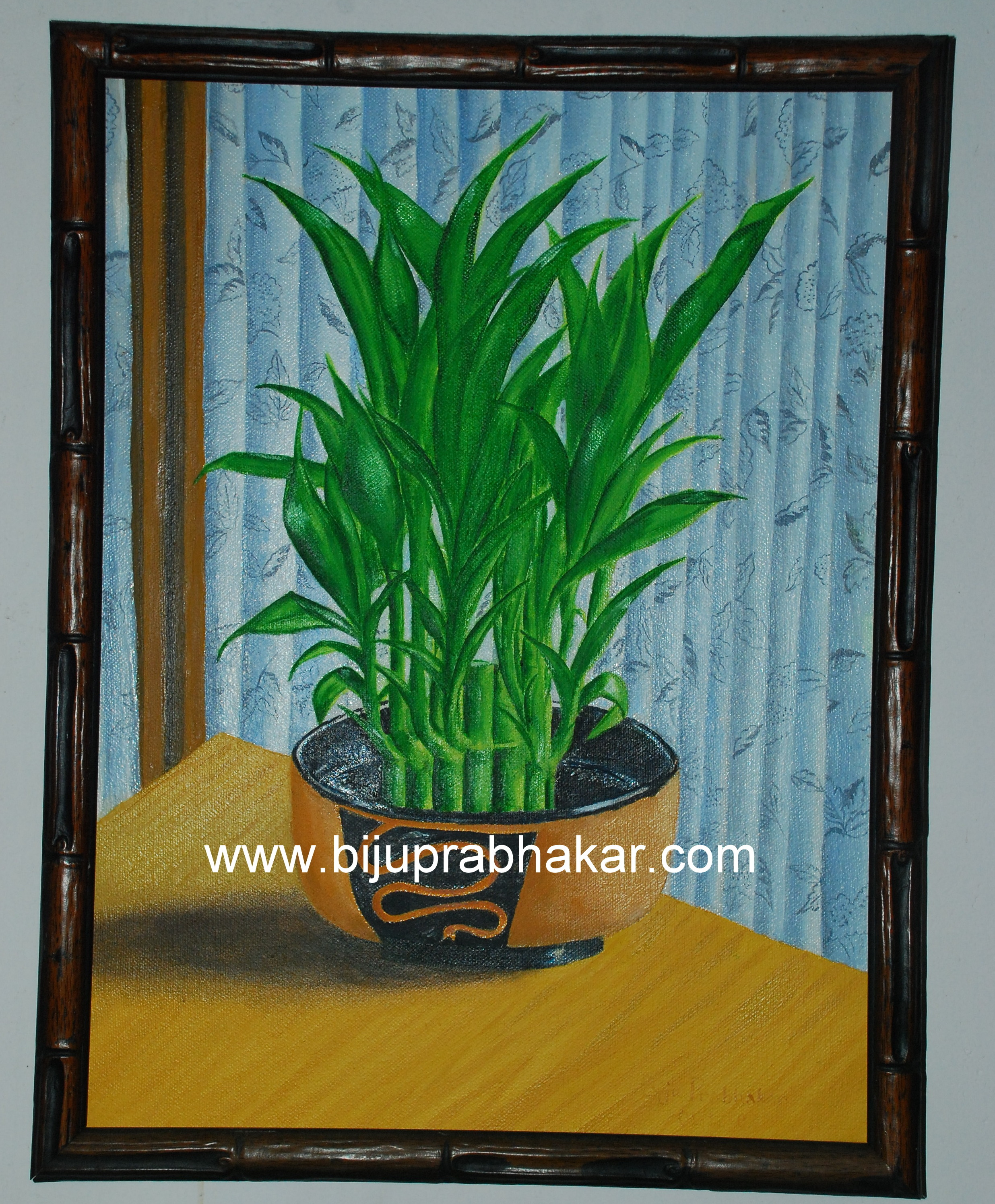 bamboo  plant -Oil on canvas 2007
