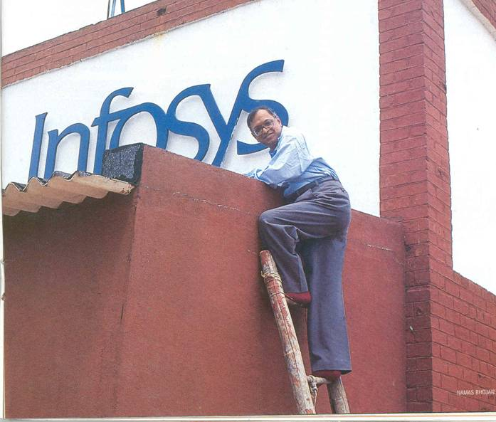 How naryanamoorthy reached the top of Infosys?