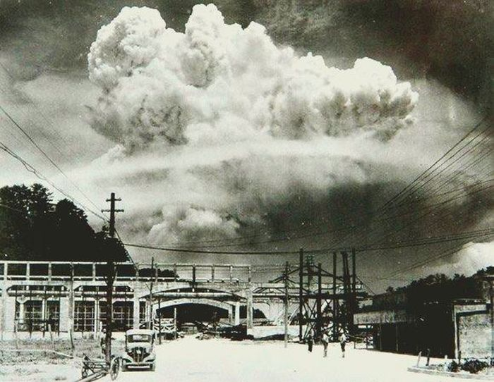 Nagasaki, 20 minutes after the atomic bombing in 1945.
