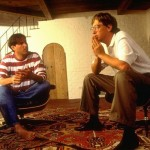 Steve Jobs and Bill Gates chatting in 1991
