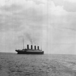 The following photo is believed to be the last photo ever taken of the RMS Titanic before it sunk in April 1912.