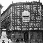The headquarters of Benito Musolini and the Italian Fascist party taken in Rome in 1930