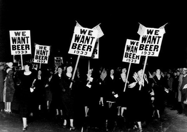 Women were demonstrating for a very important right, 1933.