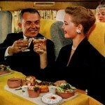 You got normal food and a full meals on flights, 1958.