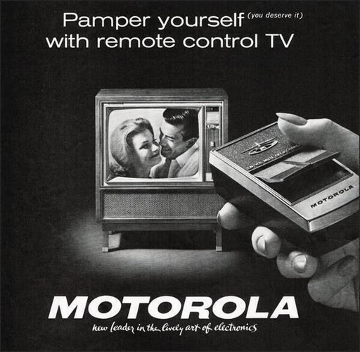 Remote controls were cutting-edge technology, 1962.