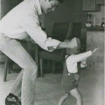 Legends passed on their legacies, Bruce Lee playing with his son Brandon, 1966.