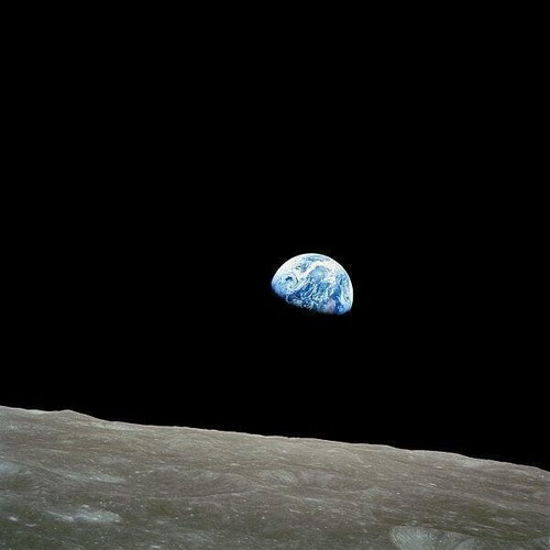 We first understood how small and alone we are, 1968.