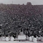 """A few people got together for a """"small party"""", Woodstock, 1969."""