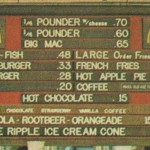 You could get a Big Mac for 65 cents, 1970's.