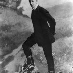 Roller skates were the hot new thing but still needed a bit of work, 1910.